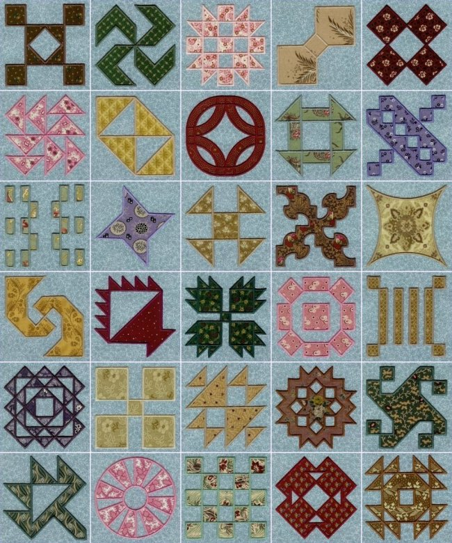 Amish quilt patterns - applique machine embroidery designs