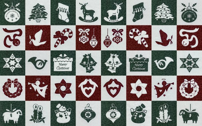 Christmas quilt patterns - applique machine embroidery designs