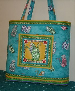 Quilted Tote Bag - Quilted Totes