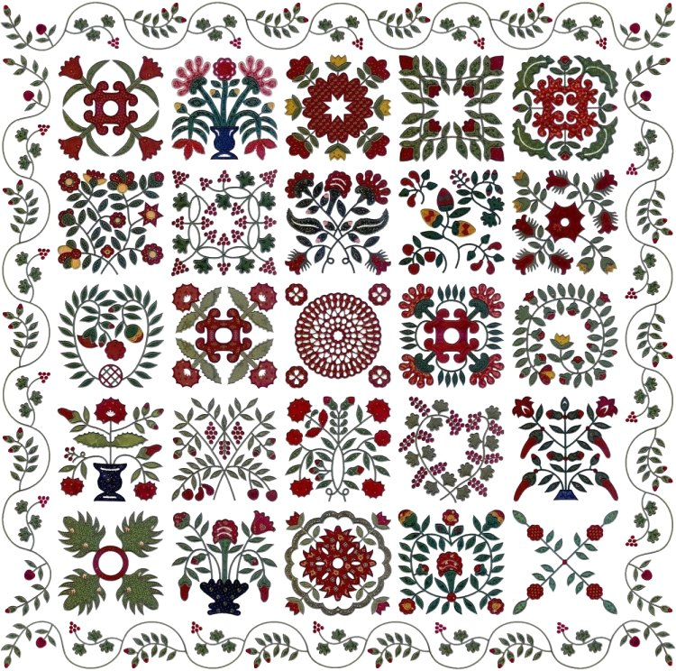 Mary Mannakee Quilt - applique machine embroidery designs